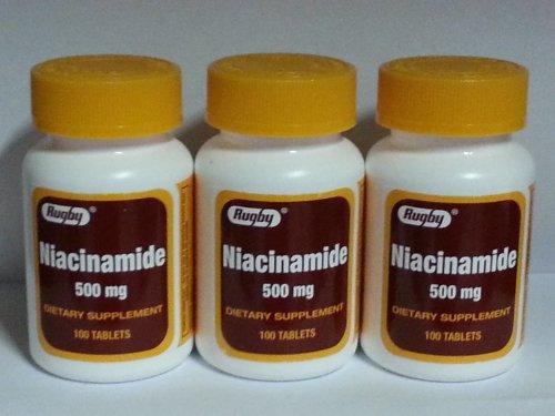 Rugby Niacinamide 500mg Tablets 100ct – 3 Pack (3)