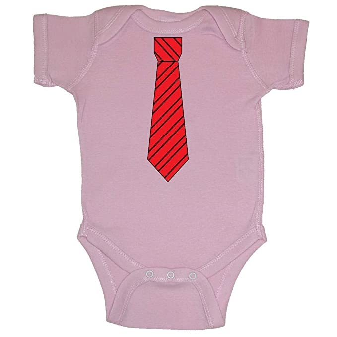 Amazon.com  Two In Love! Red Black Striped Neck Tie Baby Bodysuit ... e8f7cca78