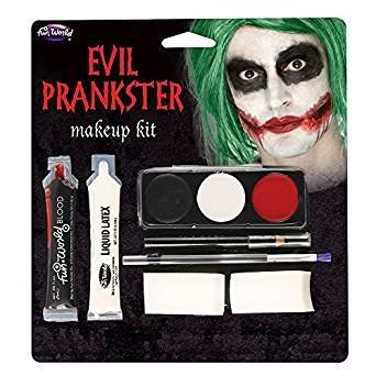 Halloween Evil Prankster/Joker Make Up Kit with Latex, Blood, Makeup & Applicator by Wicked