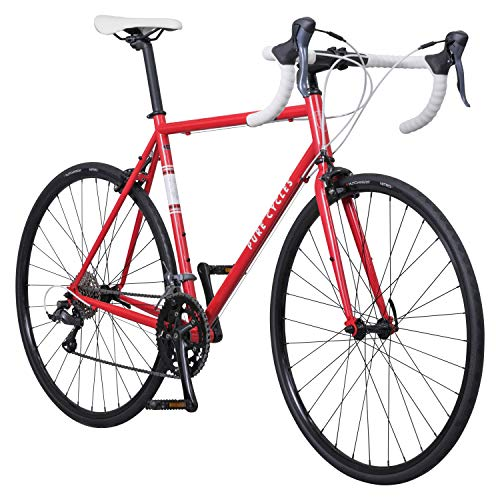 Pure Cycles Classic 16-Speed Road Bike, 58cm/X-Large, Trentino Red