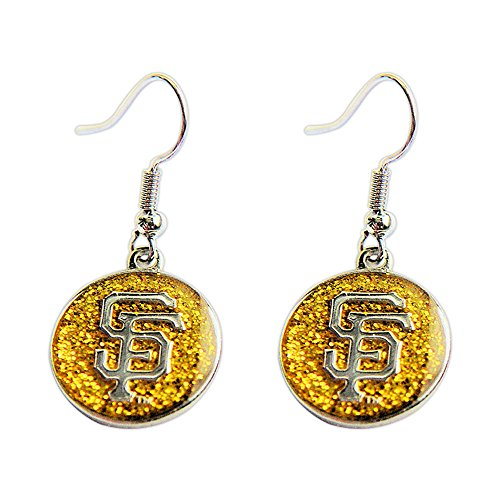 San Francisco Giants Glitter Sparkle Dangle Logo Earring Set Charm Gift (Earring Display Angel)