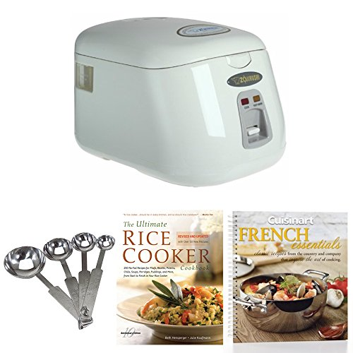 Zojirushi NS-PC18 Electric 10-Cup (Uncooked) Rice Cooker w/ Spoons & 2 Coobooks
