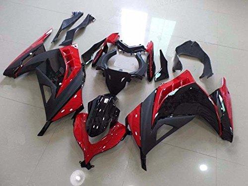 Red Black Complete Fairing Cowl Kit Injection for 2013-2015 Kawasaki Ninja 300 2014 EX300R EX-300R