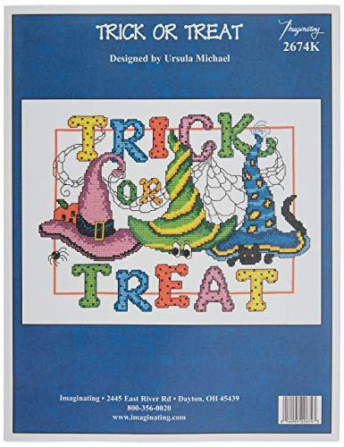 M & R Technologies Trick Or Treat Counted Cross Stitch Kit