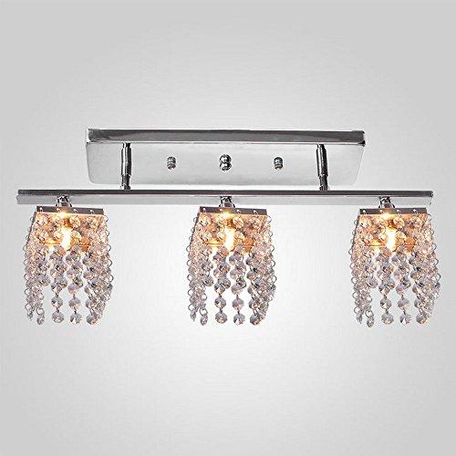 DINGGU™ Modern 3 Lights Chrome Finish Cylinder Crystal
