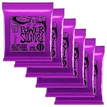 Ernie Ball Power Slinky - Cuerdas para guitarra eléctrica (0,11 - 0,48): Amazon.es: Instrumentos musicales