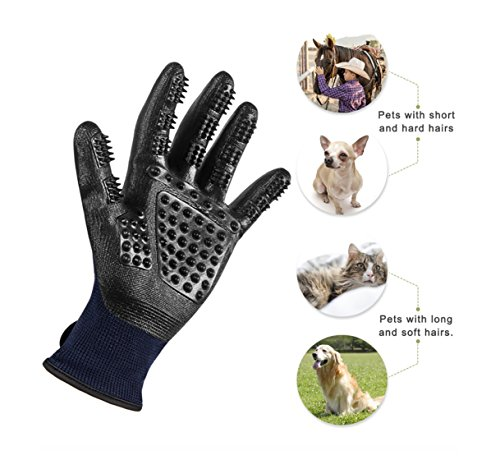 Trendcode Pet Deshedding Gloves - Efficient Pet Hair Remover, Grooming Mitt Brush Tool - Good Dogs Cats Horses Bathe Wash by Trendcode (Image #1)