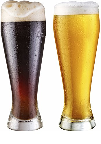 Circleware Basic Pilsner Beer Glasses, Set of 4, 19 oz, - Pilsner 19 Beer Ounce