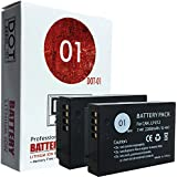 DOT-01 2x Brand Canon EOS M100 Batteries for Canon EOS M100 DSLR and Canon M100 Battery Bundle for Canon LPE12 LP-E12