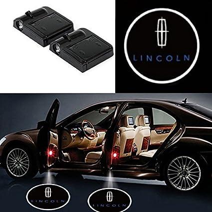 2 Pcs Wireless Car Door Led Welcome Laser Projector Logo Light Ghost Shadow Light Lamp Logos