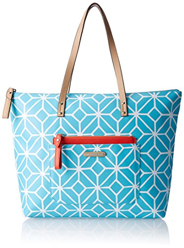 Trina Turk Poolside Shopper Shoulder Bag, Scuba Trellis, One ()