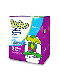 Kandoo Kids Flushable Wipes Refill, Potty Training Cleansing Cloths, Sensitive, 200 Count BOBEBE Online Baby Store From New York to Miami and Los Angeles
