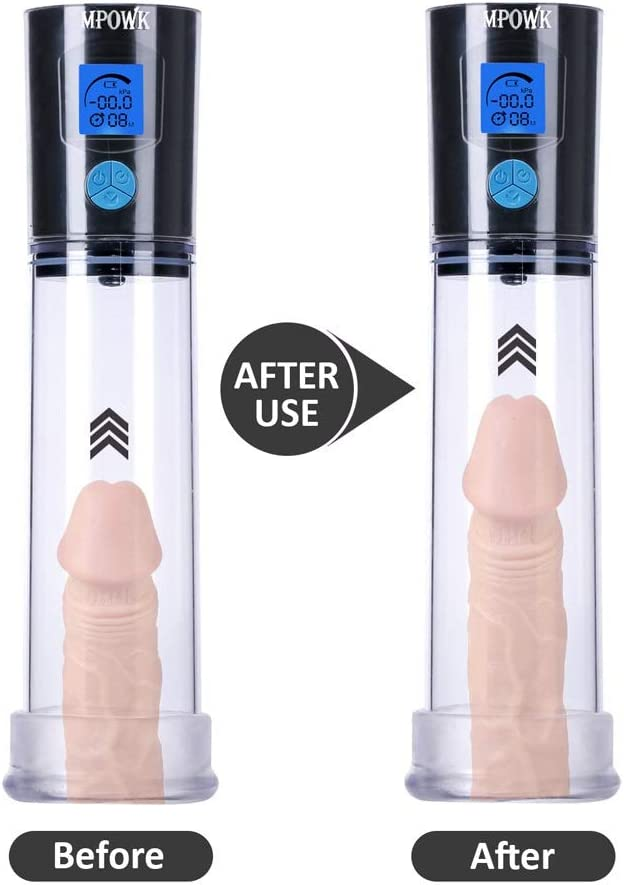 Rechargeable Automatic Penǐs Vacuum Pump with 4 Suction Intensities for Stronger Bigger, Electronic Male Enhancement Penǐs Growth Pump Toys with Clear Cylinder for Easy Viewing