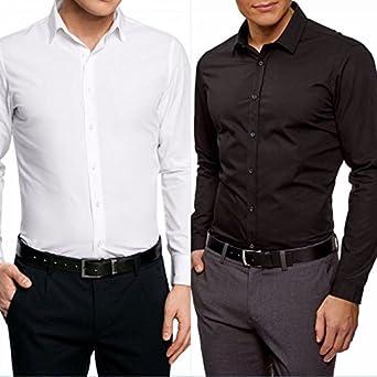 Prestige Man - Camisa formal - para hombre blanco S: Amazon.es: Ropa y accesorios