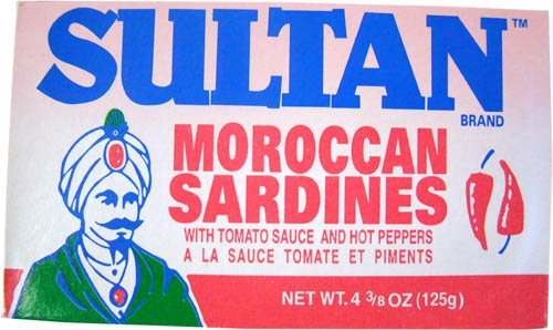 Moroccan Sardines in Oil with Chili Peppers, 125g (Sultan Sardines)