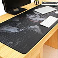 Creative World Map Computer Mousepad Mouse Pad Mouse Mat Matt Pad Anti-Slip Gaming