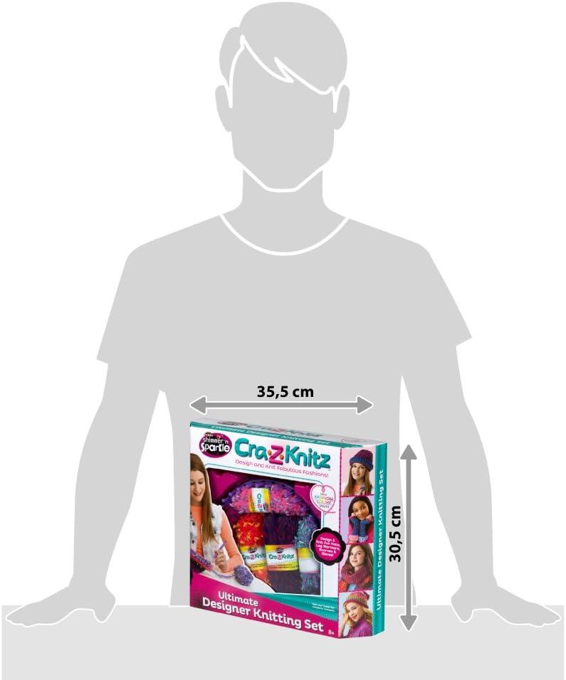Cra-Z-Art - Kit para tejer punto con 8 ovillos lana Shimmer n ...