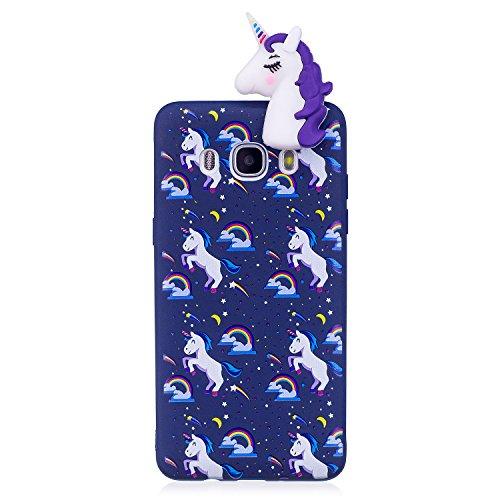 Funda para Samsung J5 2016, CaseLover 3D Panda Suave TPU Silicona Carcasa para Samsung Galaxy J5 2016 J510 Ultra Delgado Flexible Protectora Caso Mate Opaco Gel Goma Parachoques Tapa Anti Choque Trase Púrpura