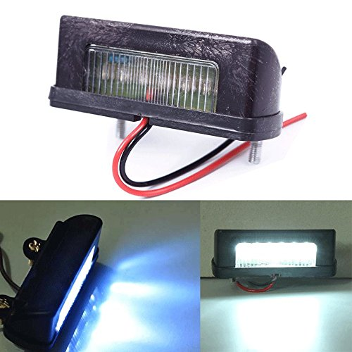 ZHUOTOP 12V LED Number Licence Plate Light Rear Tail Lamp Truck Trailer Lorry White