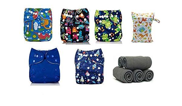Mumsbest - Pañales de bolsillo reutilizables para niños (pack de 5 ...