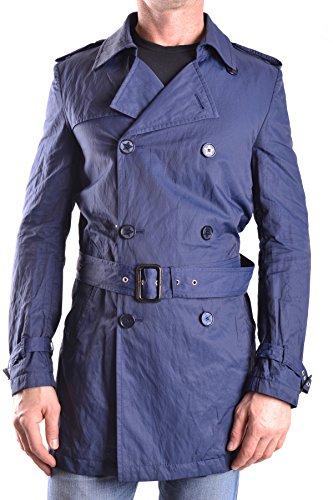 Daniele Alessandrini Herren MCBI086472O Blau Baumwolle Trench Coat