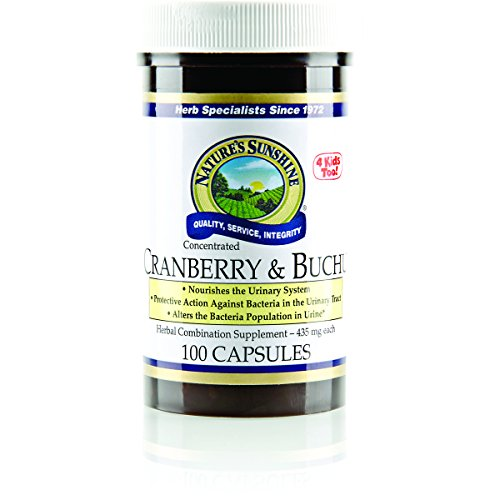 NATURE'S SUNSHINE Cranberry & Buchu Concentrate Capsules, 100 Count