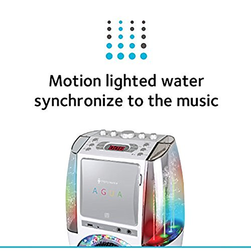 Bundle Includes 2 Items - Singing Machine SML605W Agua Dancing Water Fountain Karaoke System with LED Disco Lights & Microphone, White and Singing Machine SMM-205 Unidirectional Dynamic Microphone by Singing Machine and Singing Machine (Image #7)