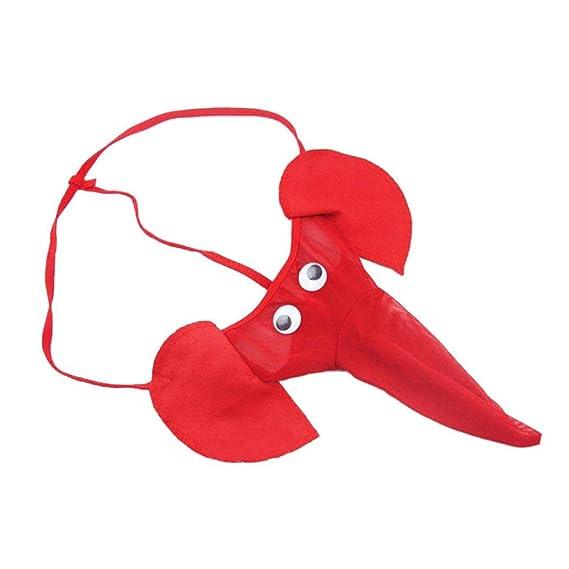 Calzoncillos Elefante,VENMO Elefante Bulto Bolsa Hombres Elástico T Espalda Lencería Tanga Erótico Ropa Interior