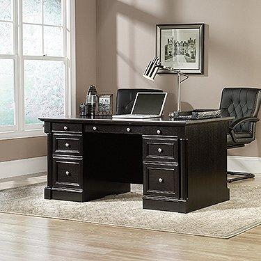 Sauder 416513 Palladia Executive Desk, L: 65.12