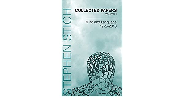 collected papers volume 1 stich stephen