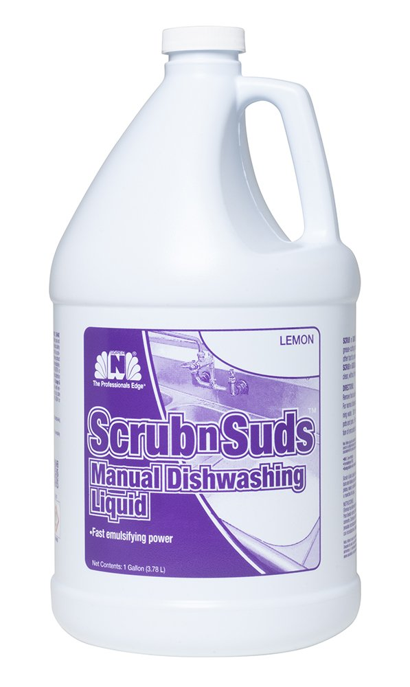 Nilodor 128SSDL Scrub N Suds Manual Dishwashing Liquid, 1 gal