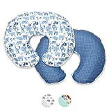 Boppy Premium Nursing Pillow Cover, Blue Zoo, Ultra-soft Microfiber Fabric in a fashionable two-sided design, Fits All Boppy Nursing Pillows and Positioners