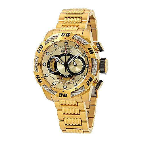 Dial Multifunction Gold (Invicta Men's 25482 Speedway Quartz Multifunction Gold Dial Watch)