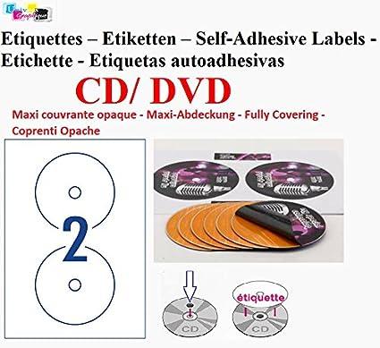 40étiquettes CD - DVD autocollantes VERSO OPAQUE autocollant ...