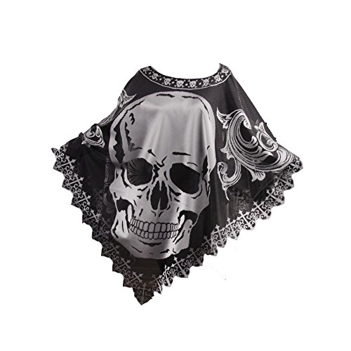 - Heritage Lace Halloween Skull Poncho Costume, Hawthorne Gardens, 58