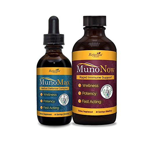 MunoMax & MunoNow - Immune Support + Soothing Syrup | All-Natural Liquid Formula for 2X Absorption | Elderberry, Echinacea, Ginger & More! (2)