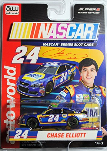 (AW SC324 NASCAR #24 CHASE ELLIOTT 2017 CHEVY SS Electric Slot Car NEW!)