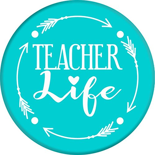 CocomoSoul-Mobile Teacher Life -Teacher Appreciation Gift - Last Day Of School Gift (Turquoise) PopSockets Stand for Smartphones and Tablets