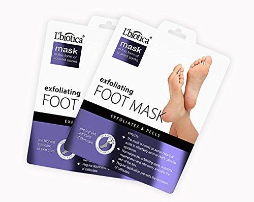 L'Biotica Exfoliating Peel Foot Mask – Peels Away Dead Skin, Remove Corn and Callus, Repair Rough Heels, Get Baby Soft Feet in Just 2 Weeks - 2 - Many How Pairs