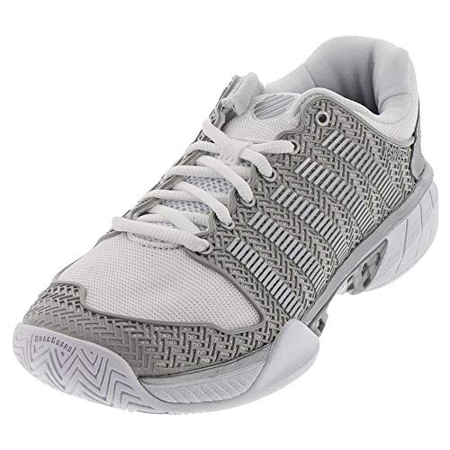 K-Swiss Women`s Hypercourt Express Tennis Shoes (8.5 White/Silver)