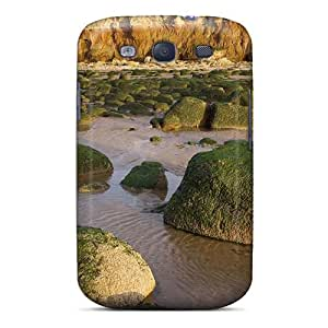 Protection Case For Galaxy S3 / Case Cover For Galaxy(green Stones In Norfolk Engl Seacoast)