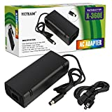 xbox 360 console and cords - YCCTEAM XBOX 360 E Power Supply, Power Supply Cord AC Adapter Replacement Charger for Xbox 360 E, 100-240V Auto Voltage, Black