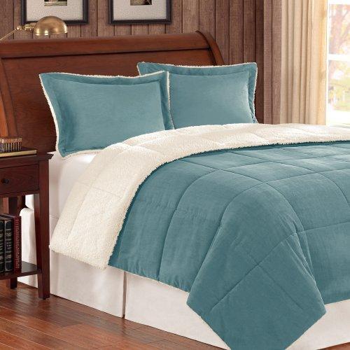 Premier Comforter Jackson Corduroy Reverse to Berber Comforter Mini Set, King, - Comforter Corduroy Set