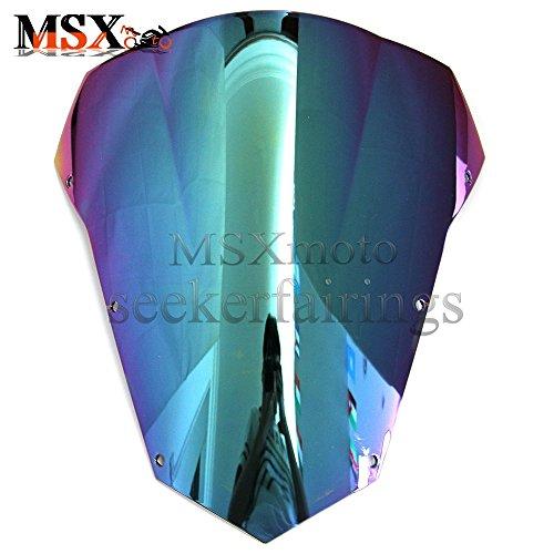 Yamaha Fz6 Windscreen - MSXmoto Windshield Windscreen Double Bubble For Yamaha FZ6 2003 2004 2005 2006 2007 2008 03 04 05 06 07 08 multicolor