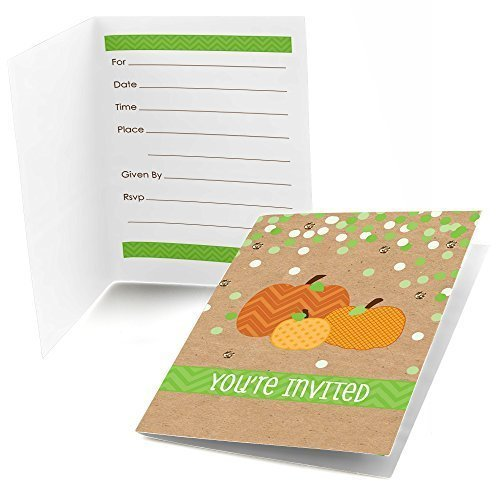 Big Dot of Happiness Pumpkin Patch - Fill in Fall & Thanksgiving Party Invitations (8 Count)]()