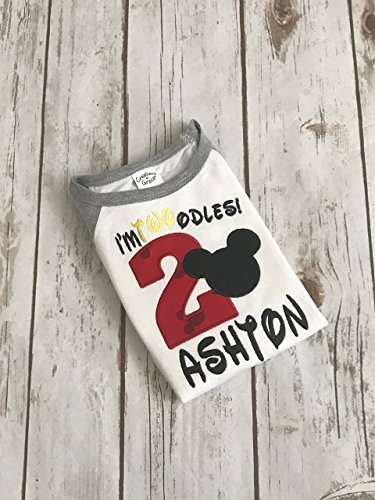 Amazon Mickey Mouse Shirt Boys Birthday Second Oh Twoodles Im 2 Handmade