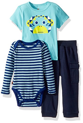 Tea Collection Baby Boys' Monkey Business Set, Multi, 12-18 by Tea Collection