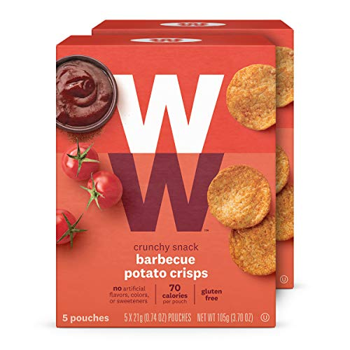 WW Barbecue Potato Crisps - Gluten-free & Kosher, 2 SmartPoints - 2 Boxes (10 Count Total) - Weight Watchers Reimagined