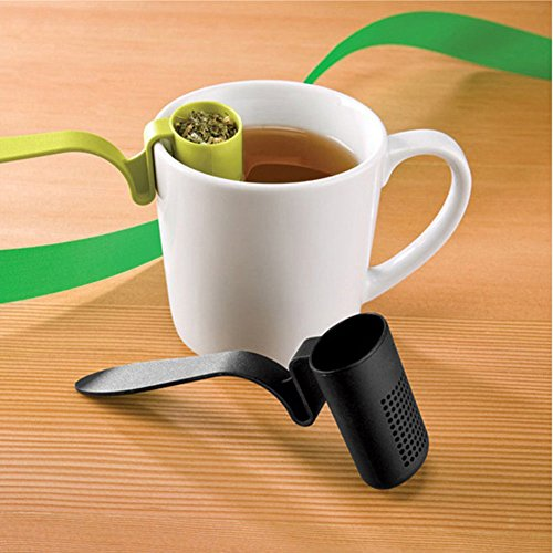 1pc Tea Strainer Herbal Spices Leaf Infuser Clip-On Colander Teaspoon Filter