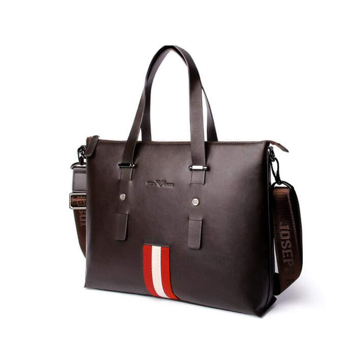 ブリーフケース、ビジネスメンズコンピュータバッグ、ファッションビジネスメンズハンドバッグ、カジュアルワイルドメッセンジャーバッグ、ダークブラウンサイズ:36 * 9 * 29 cm  ダークブラウン B07R44CT1N